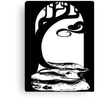 Woodland Stream (White) Canvas Print