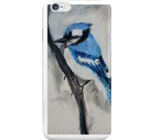Blue Jay Wild Bird Acrylic On Canvas Board iPhone Case/Skin
