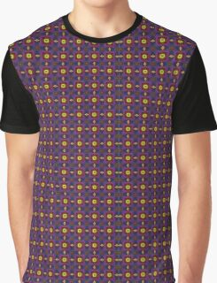 Abstract decorative yellow violet fractal Graphic T-Shirt