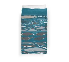 A SEA FULL OF CETACEANS: WHALES, DOLPHINS, AND PORPOISES Duvet Cover