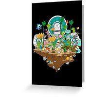 Monster Land Greeting Card