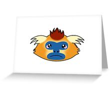 Golden snub-nosed monkey Greeting Card