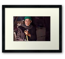 He was just there Framed Print