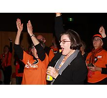 #Indivotes Cathy McGowan at Wangaratta election night 2016 Photographic Print