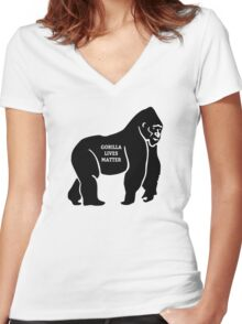 Harambe - Gorilla Women's Fitted V-Neck T-Shirt