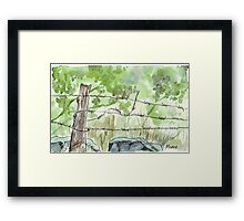 The fencepost Framed Print