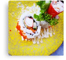 Comfort Food: Crab Stick Sushi Canvas Print