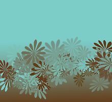 Teal and Brown Azalea pattern by kreativekate