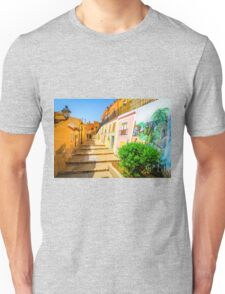Houses painted on in Xixona Unisex T-Shirt