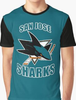 Sharks On Fire Graphic T-Shirt