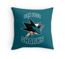 Sharks On Fire Throw Pillow