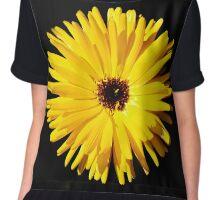 Yellow summer flower  Chiffon Top