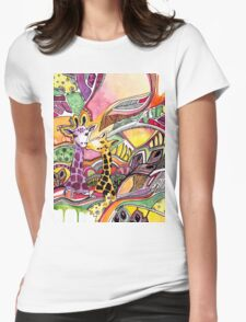 Giraffes in love Womens Fitted T-Shirt