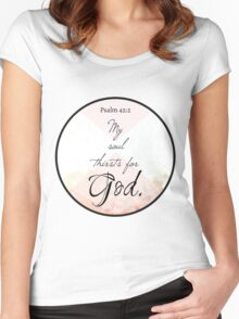 Christian Quote Women's Fitted Scoop T-Shirt