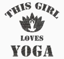 This girl loves yoga One Piece - Short Sleeve