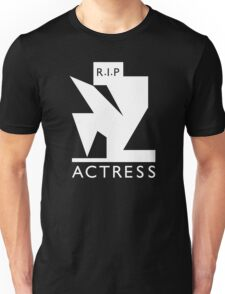 Actress - R.I.P. (white ink) Unisex T-Shirt