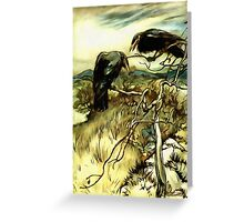 The Two Crows Greeting Card
