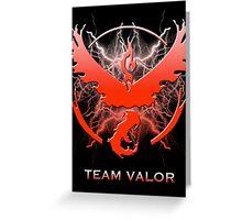 Pokemon Go - Team Valor Greeting Card