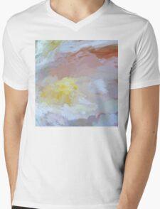 Springtime Peonies In Full Bloom Mens V-Neck T-Shirt