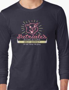 Satriale's - Red Piggy Logo Long Sleeve T-Shirt