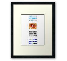 Trigrams Framed Print