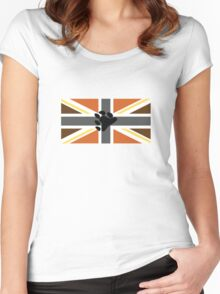 Union flag [bear pride] Women's Fitted Scoop T-Shirt