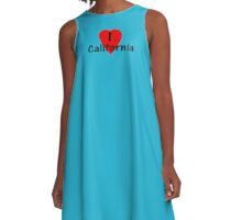 I Love California - USA T-Shirt & Decal A-Line Dress
