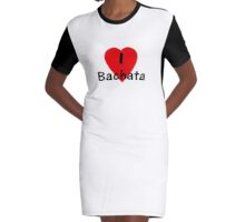 I Love Bachata - Dance T-Shirt Graphic T-Shirt Dress