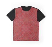 red texture with arabic geometric ornament Graphic T-Shirt