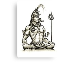 Shiva design Canvas Print