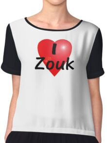 Dance - Love - I Heart Zouk Dancer T-Shirt & Top Chiffon Top