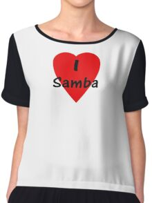 Dance - I Love Samba T-Shirt & Top Chiffon Top