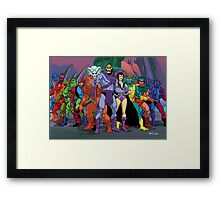 Evil Warriors Filmation Style Framed Print
