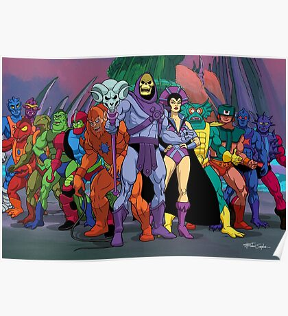 Evil Warriors Filmation Style Poster