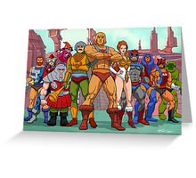 Heroic Warriors Filmation style Greeting Card
