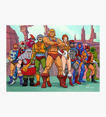 Heroic Warriors Filmation style Photographic Print