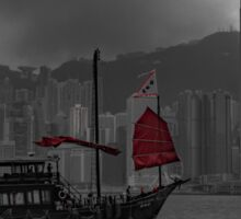 Red sails in Hong Kong Sticker