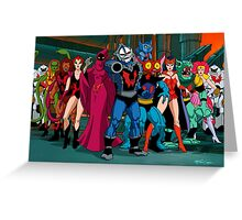 The Evil Horde Filmation Style Greeting Card