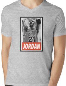 (BASKETBALL) Michael Jordan Mens V-Neck T-Shirt