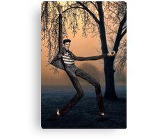 Slender Man Elvis Canvas Print