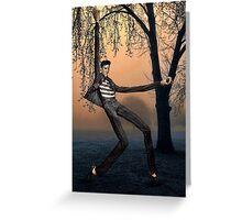 Slender Man Elvis Greeting Card