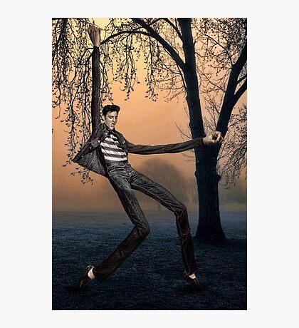 Slender Man Elvis Photographic Print