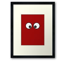Googly Eyes Dress Framed Print