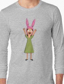 Louise Belcher Light Pattern Black Long Sleeve T-Shirt