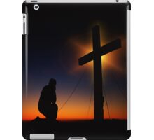 Prayer at Sunset Silhouette - Serenity Prayer iPad Case/Skin