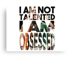 """""""I am not talented, I am obsessed"""" - Conor McGregor Canvas Print"""