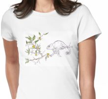 Kei-apple Botanical - and a Chameleon Womens Fitted T-Shirt