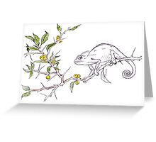 Kei-apple Botanical - and a Chameleon Greeting Card