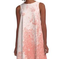 Earth Sweat Design (Peach Echo Color) A-Line Dress