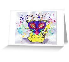 Majora Pikachu Greeting Card
